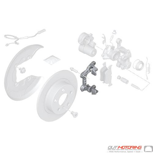 Brake Caliper Bracket: Rear F54 + F60