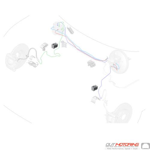 34306858577 Mini Cooper Replacement Parts Wire Clip  Single