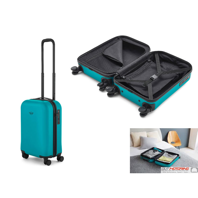 80222445677 Mini Cabin Trolley Suitcase Aqua Travel