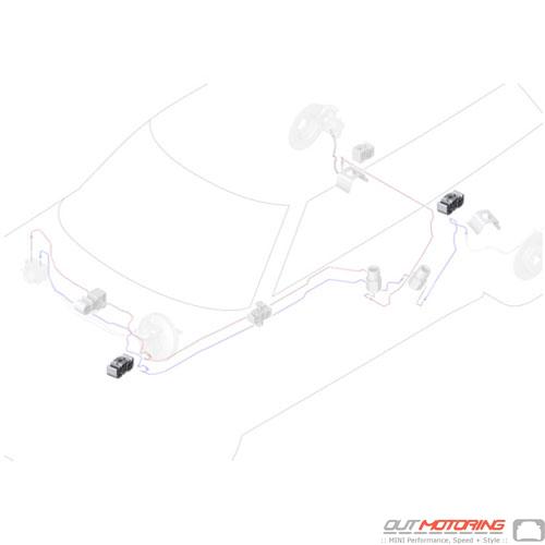 34306858578 Mini Cooper Replacement Parts Wire Clip  Dual