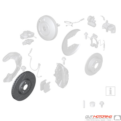 Brake Rotor: Ventilated: Front: JCW