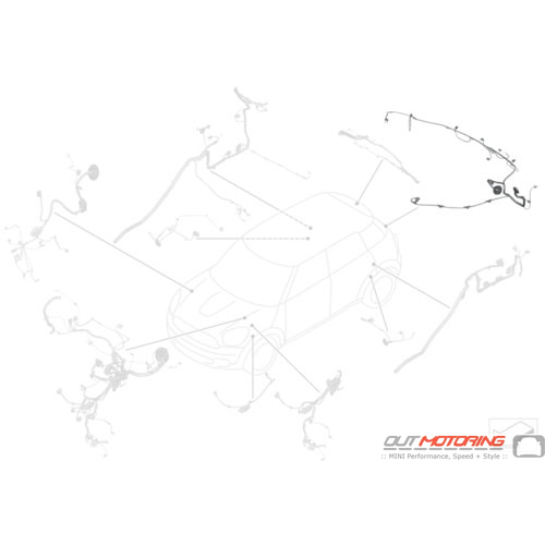 61119807499 Mini Cooper Replacement Wiring Kit Rear Bumper