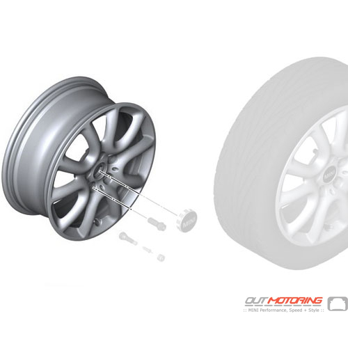 Race Spoke 498: Light Alloy Rim: Silver