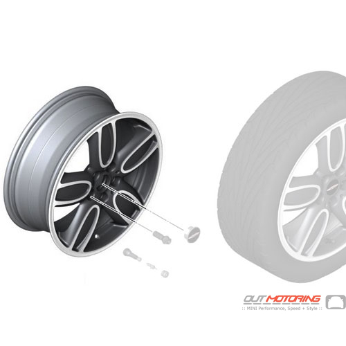 Cup Spoke 563: Light Alloy Rim: 2-Tone
