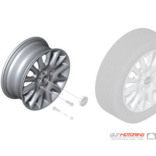 Victory Spoke 495: Light Alloy Rim: Silver