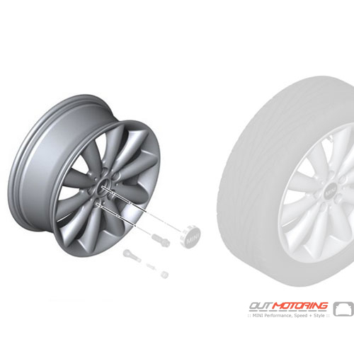Cosmos Spoke 499: Light Alloy Rim: Silver