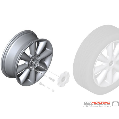Cone Spoke 507: Light Alloy Rim: Silver