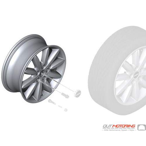 Propeller Spoke 503: Light Alloy Rim