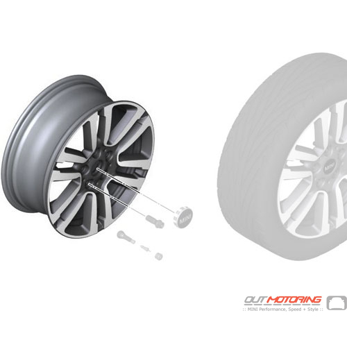 Seven Spoke 497: Light Alloy Rim: Spectre Grey