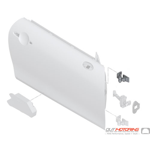 Door Hinge: Front Right: Upper
