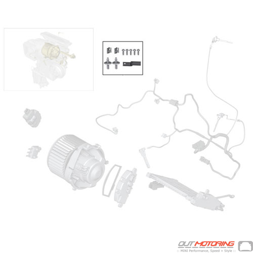 Heater/Air Conditioning Housing: Parts Set