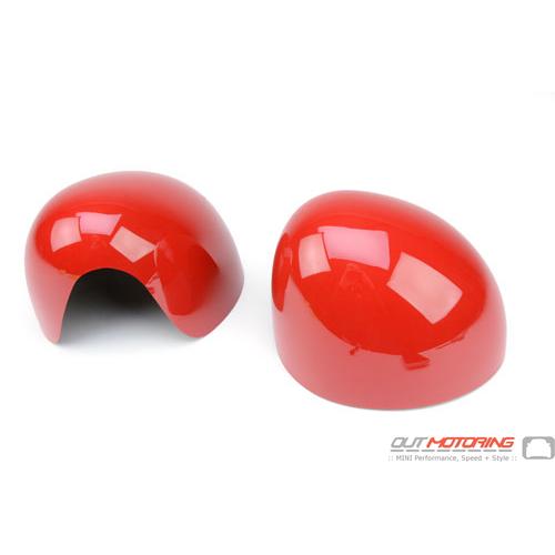 Side Mirror Caps: Gen3: Red