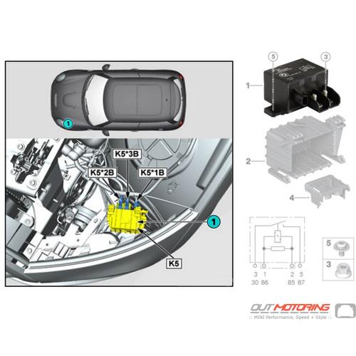 Relay: K5: Electric Fan Motor