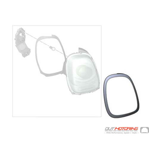 Click to expand  sc 1 st  OutMotoring & 63217351431 MINI Cooper Replacement Chrome Ring: Tail Light: Left ... azcodes.com