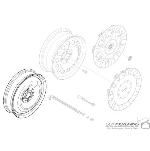 Micro Spare Wheel: 4 Lug