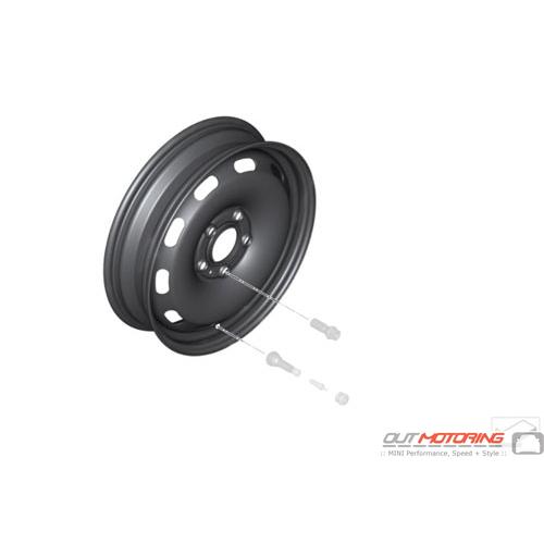Micro Spare Wheel: 5 Lug: F55/F56/F57