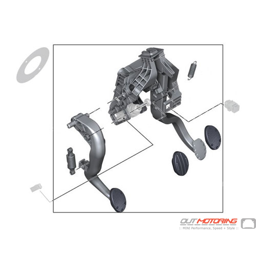 Complete Set: Pedal Assembly: JCW