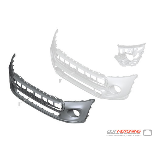 Front Bumper: Trim Cover: Primered