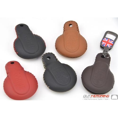 Molded Leather Mini Cooper Gen3 F56 Leather Key Fob Case Senhai F56