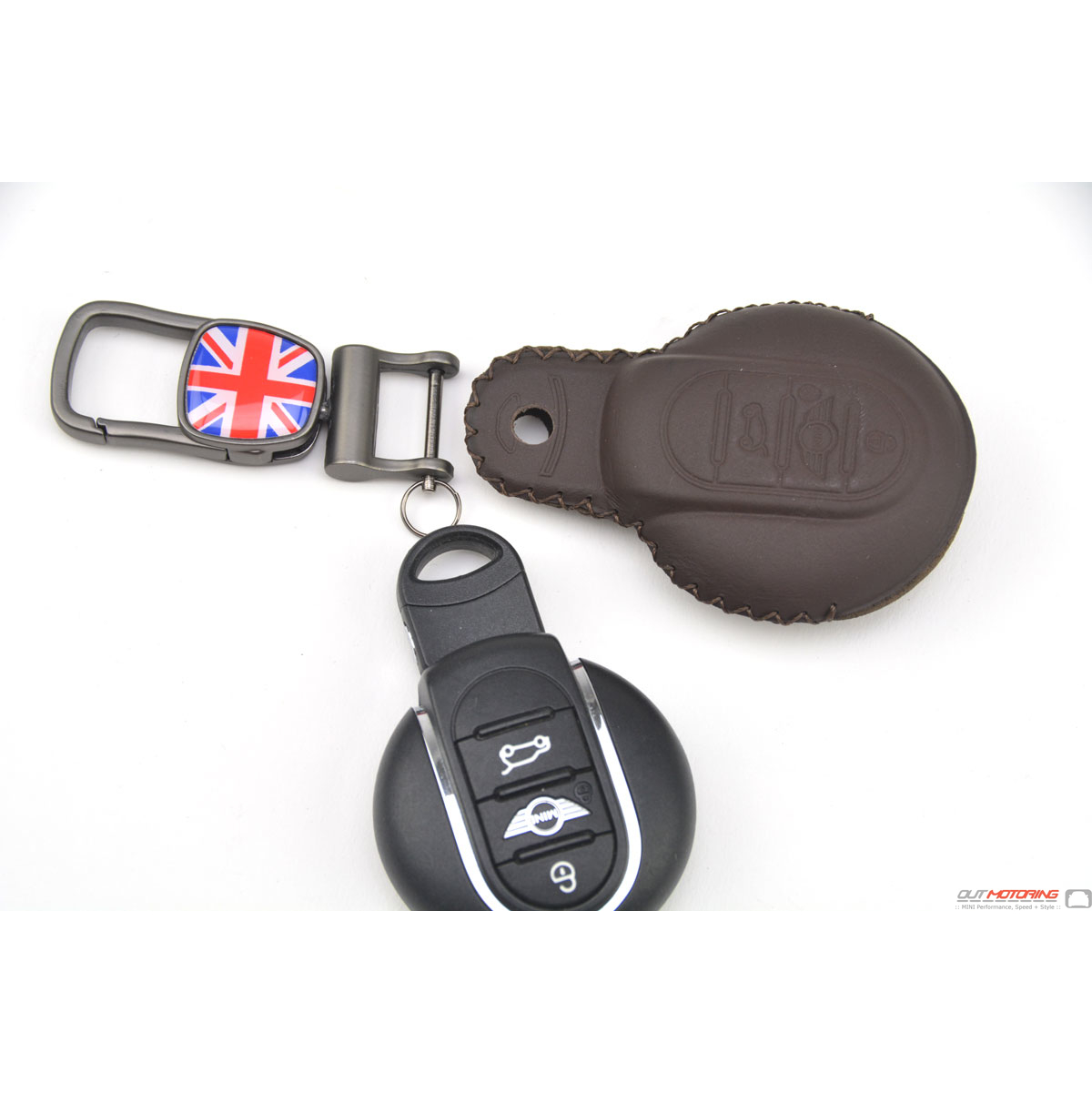 Molded Leather MINI Cooper Gen3 F56 Leather Key Fob Case