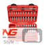 1/4 Inch Drive 6-Point Socket Set: 51-Piece Metric + SAE