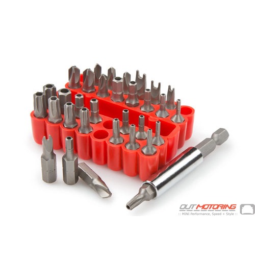Security Screwdriver Bit Set: 33-Piece