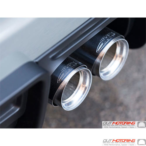 18302355304 mini cooper 2015 2014 2016 F56 F56 JCW Pro Tuning Kit Exhaust  Tips Chrome john cooper works - MINI Cooper Accessories + MINI Cooper Parts