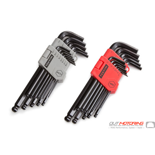 Long Arm Ball End Hex Key Wrench Set: 26-Piece