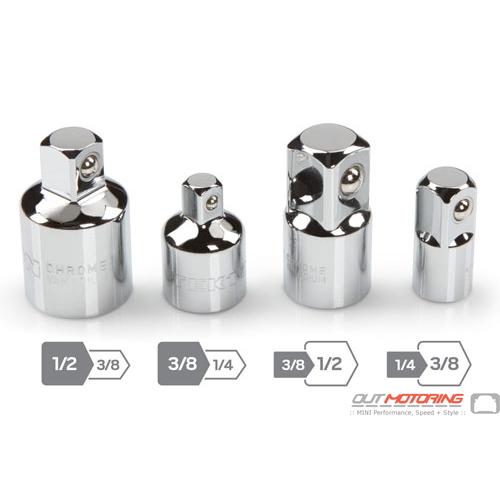 Socket Adapter + Reducer Set: Standard: 4-Piece