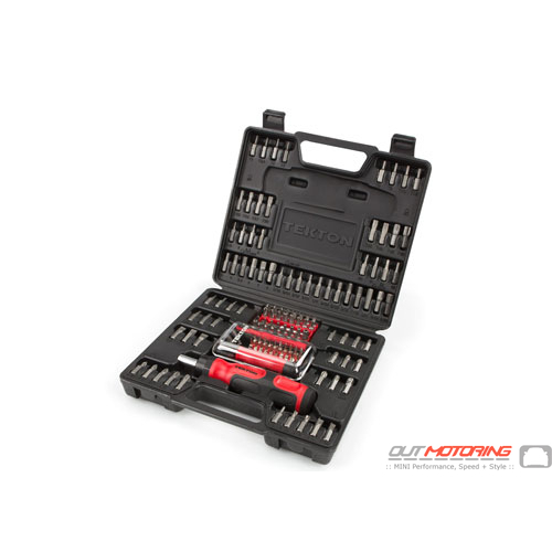Everybit Ratchet Screwdriver and Bit Set: 135-Piece