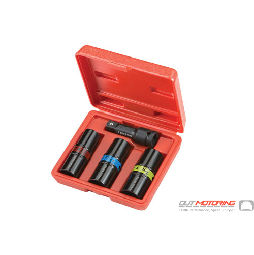 1/2 Inch Drive 6-Point Impact Flip Socket Set: 4-Piece