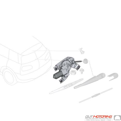 61627365820 Mini Cooper Replacement Parts Wiper Motor Rear Window
