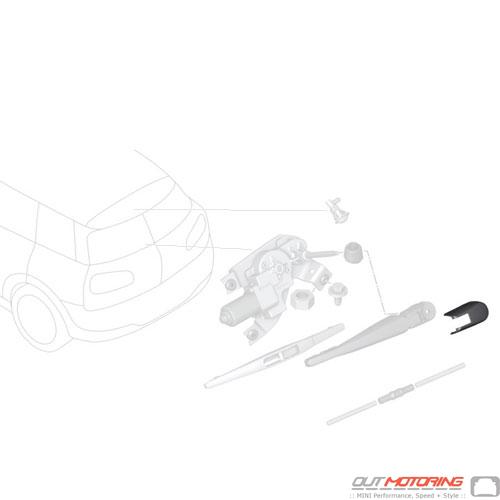 Rear Wiper Arm Cover: F54