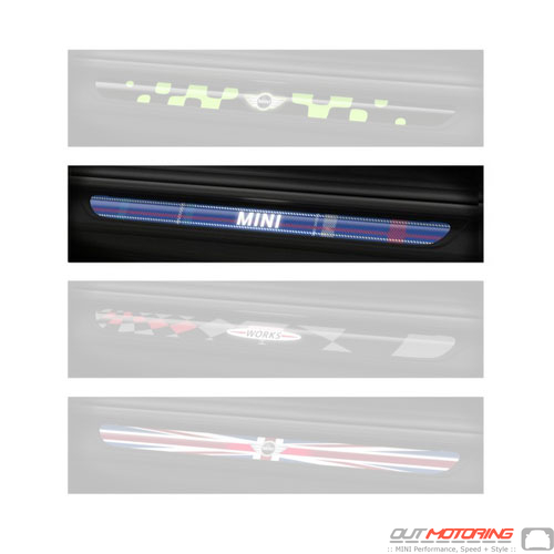 Mini LED Door Sill Set: Speedwell Blue