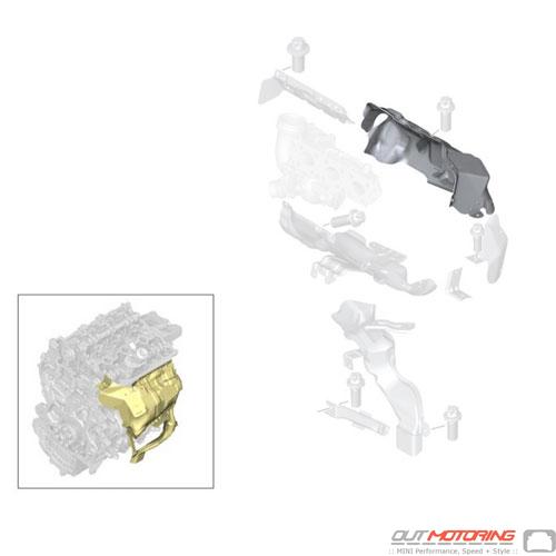 Heat Shield: Turbocharger: Upper