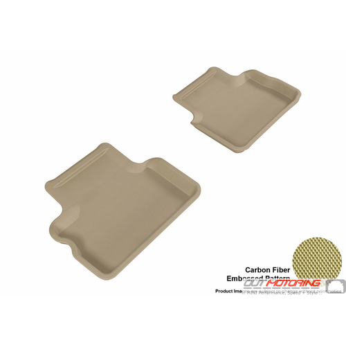 Floor Mats: Modern Contour Fit: F57 Convertible: Rear