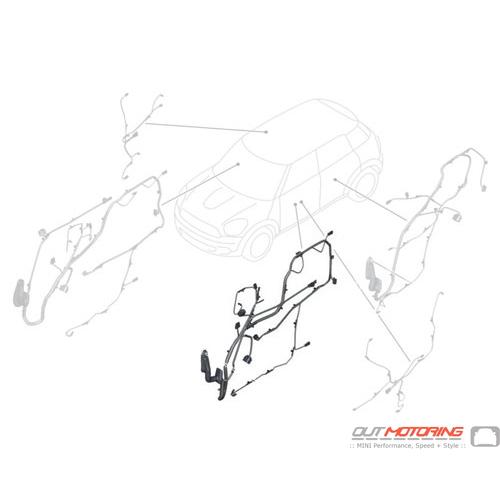 61129359251 Mini Cooper Replacement Parts Door Wiring