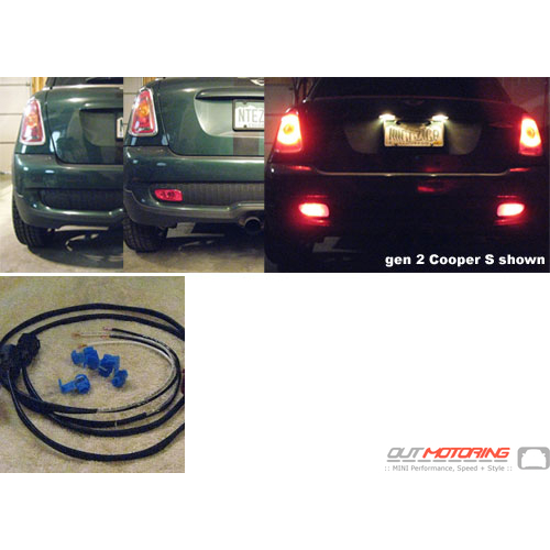 mini cooper add a brake light wiring kit gen1 gen2 mini cooper rh outmotoring com