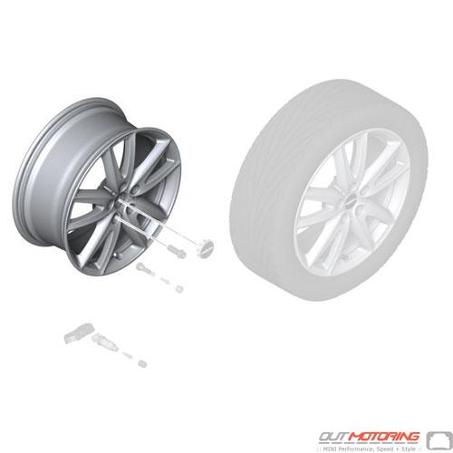 Disc Wheel: Light Alloy: Jet Black Sol. Paint