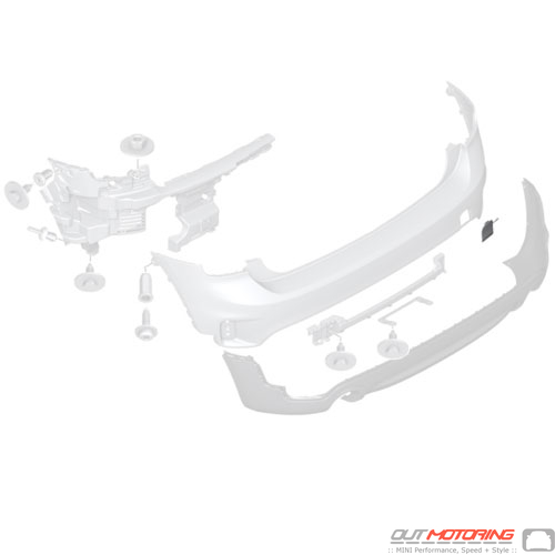 Towing Eye Cover: Rear F60