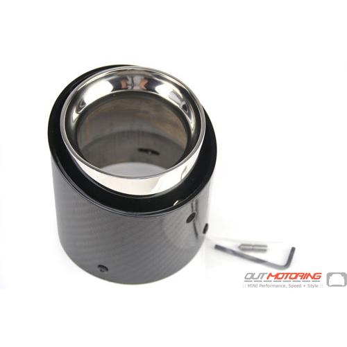 Exhaust Tip: Carbon Fiber: F series
