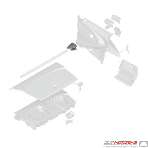 GP2 Rear Upper Stress Bar: Trim Cover: Right