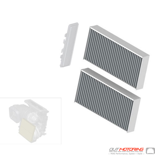 Interior Cabin Filter: Carbon Charged