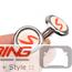 "Door Lock Pin Accent: Chrome w/ ""S"""