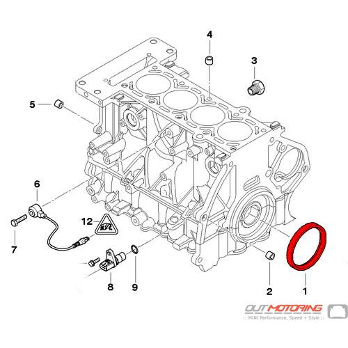 Mahle 4621939AB JV1654 MINI Cooper Crankshaft Crank Shaft