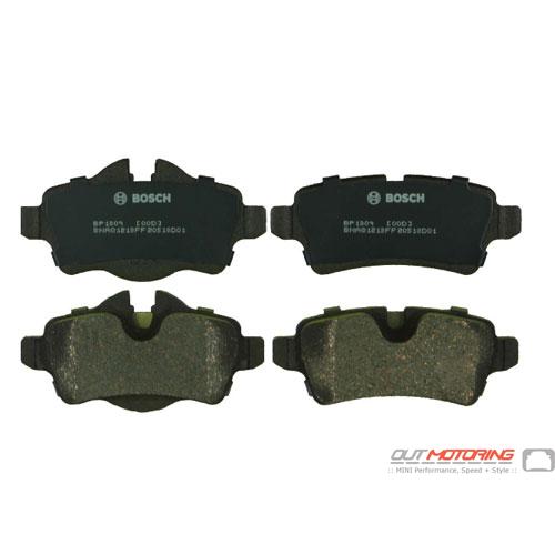 Brake Pads: Rear: R55/6/7/8/9 Bosch
