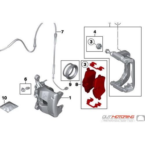 Brake Pads: Front: R60/61: Bosch
