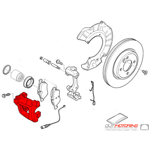 Brake Caliper: Front Right: World Brake Resources