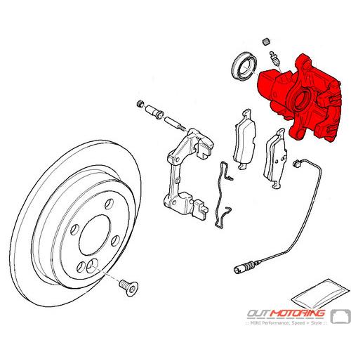 Brake Caliper: Rear Right: ATE