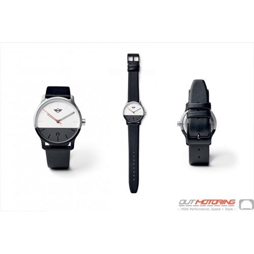MINI Color Block Watch: Black + White